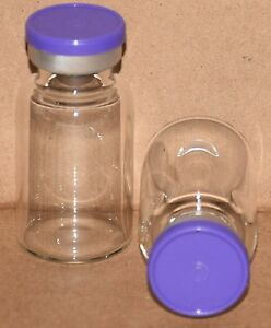 10 Ml Bb Clear Sterile Vial With Purple Plain Flip Top Seal Qty 50