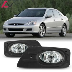 For 2006 2007 Honda Accord Fog Lights Wiring Switch And Bezels Clear Lens