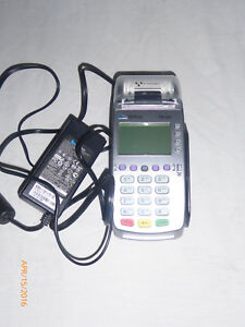 Verifone Vx520 Credit Card Chip Reader Terminal With Power Supply