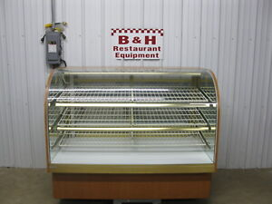 59 Curved Front Glass Dry Donut Bakery Dessert Display Case 5