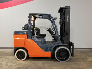 2014 Toyota 8fgc70u Smooth Cushion Forklift Lpg Lift Truck Hi Lo 98 187