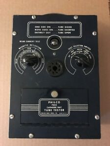 Vintage Philco 7053 Crt Cathode Ray Tube Tester