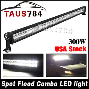 52 300w Spot Flood Combo Work Led Light Bar Driving Lamp Off Road Suv Car 4wd