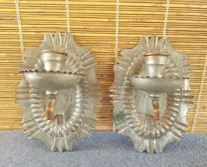United Arab Republic Tin Lined Copper Wall Sconces Candle Holder Spanish Revival