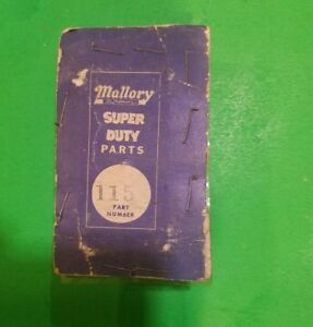 Mallory Ignition Points Part Number 115 Nos Vintage Points