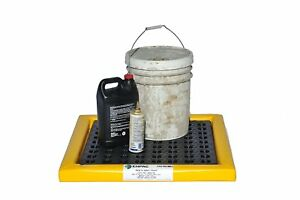 Enpac 5610 ye Poly spill Pad With Grate 48 X 24 X 2 7 5 Gallons Capacity