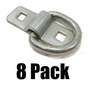 8 3 8 Steel D Rings Clips Tie Down For Trailer Truck Chain Anchor Bolt On