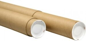 General Supply Adjustable Round Mailing Tubes 30 60 l X 3 1 8 Dia Brown