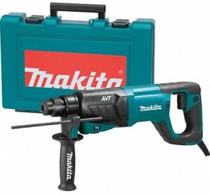 Makita Hr2641 1 Avt Rotary Hammer Accepts Sds plus Bits d handle