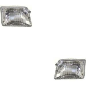 New Headlights Pair Fits The Ford Ranger 1993 1994 1995 1996 1997 Xl Xlt