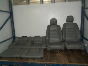 05 09 Ford Mustang Gt Seats Drivers Passengers Front Rear Grey Leather