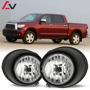 For Toyota Tundra 07 13 Clear Lens Pair Oe Fog Light Lamp wiring switch Full Kit