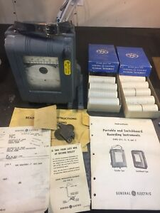 Vintage General Electric Type Cf 1 Portable Watt Hour Meter Recorder
