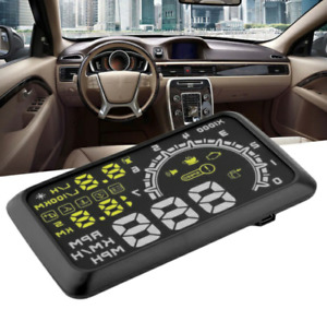 Car Hud Head Up Display Obd2 Interface Plug Play Speed Warn System