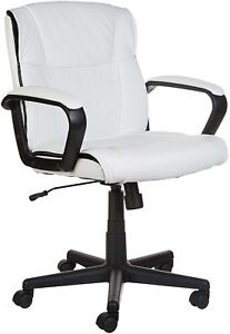 Amazonbasics Mid back Office Chair White