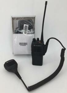 Motorola Ht750 Uhf Highband 16 Channels Aah25rdc9aa3an W Mic New Charger