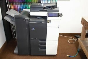 Konica Minolta Bizhub C368 Color Copier print scan And Finisher W 50567 Copies