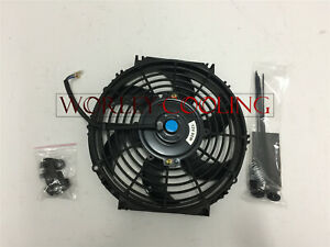 Universal 10 Inch Universal Electric Radiator Fan New With Mounting Kit Black