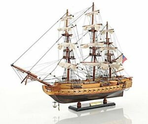 Uss Constitution Old Ironsides Tall Ship 22 5 Wooden Model Sailboat Assembled