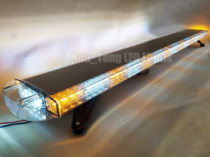 63 Light Bar Led Warn Emergency Response Tow Truck Wrecker Strobe Amber White