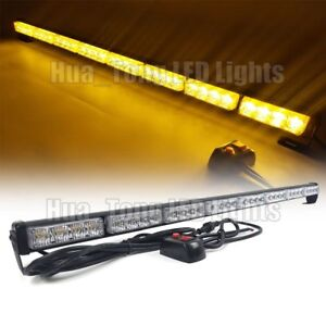 33 Light Bar Led Traffic Advisor Warn Emergency Directional Safety Strobe Amber
