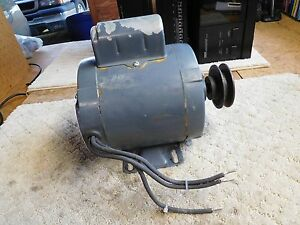 Westinghouse 1 3 Hp 1725 Rpm Single Phase 115 250 Volt Electric Motor Usa Made