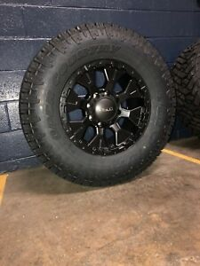 Helo He878 17x9 Wheels Rims 33 Toyo At Tires Package 6x5 5 Toyota Tacoma