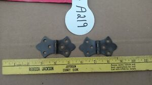 Vintage Antique Solid Brass Hinges 1 Pair A219