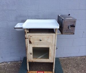 Early Antique Medical Hospital Sterilizer Surgical Cabinet 1920 1930