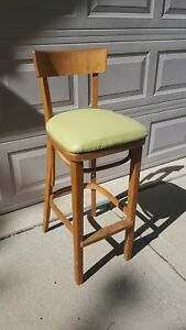 Antique Vintage Mid Century Bentwood Made In Romania Wooden Thonet Barstool