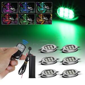 6pods Multi Color Rgb Led Light Strip Under Glow Kit Flash Fade Solid Motorcycle