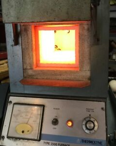Thermolyne 1500 Oven Fd1520m 1 Benchtop Muffle Furnace Heat Treating Smelting