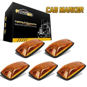 Set 5 11516638 Cab Marker Light Amber Cover 5xbase For 1988 02 Chevy C K Series