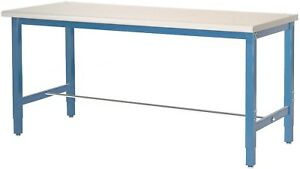60 w X 30 d Production Workbench Esd Laminate Square Edge Blue