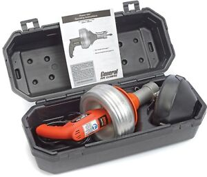 General Wire Pv d wc Power vee Drain sewer Cleaning Machine W 25 X 5 16 Down
