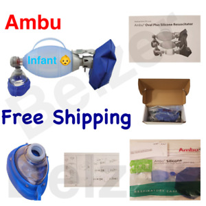 Ambu Oval Plus Silicone Manual Resuscitator Mask Infant Size New