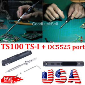 Ts100 Digital Oled Programable Interface Dc5525 Soldering Iron Station 65w Us