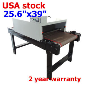 Small T shirt Conveyor Tunnel Dryer 25 6 x39 Belt For Screen Print 220v by Sea