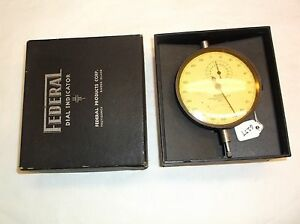 Dial Indicator Federal Model E3bs 001 Machinist Dial Indicator Rev Counter