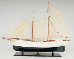 Wanderbird Sailboat Gustav Junge 38 Built Wooden Model Ship Yacht Assembled