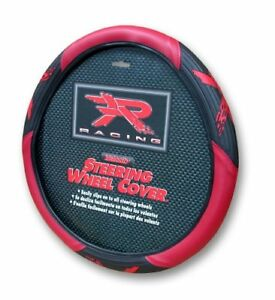 Red R Racing Velocity Steering Wheel Cover Universal Fit 14 5 15 5