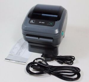 Zebra Zp 450 Thermal Label Barcode Printer Less Than 300 Inches Printed