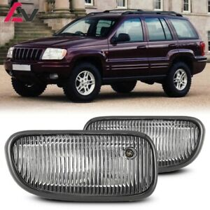 For Jeep Grand Cherokee 99 03 Clear Lens Pair Bumper Fog Light Oe Replacement
