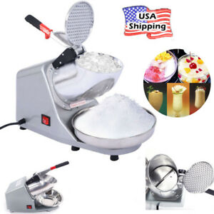Double Knife Ice Shaver Machine Snow Maker Electric Crusher Shaving Summer New