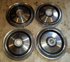 Vintage Plymouth Hubcaps 14 Set Of 4 Wheel Covers