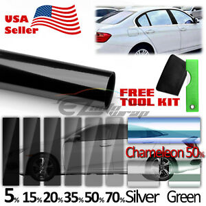 20 X120 Uncut Roll Window Charcoal Black Tint Film Car Glass Vlt 70