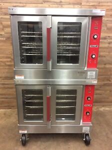 2009 Vulcan Vc4ed Electric Convection Oven Double Stack Standard Depth