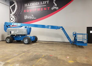 2007 Genie Z80 60 500lb Pneumatic Articulating Boom Lift 4x4 Diesel Man Lift 4x4