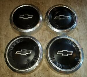 1984 91 Chevy Dog Dish Wheel Hubcaps 10 5 Pickup Truck S10 Rat Rod Set Of 4