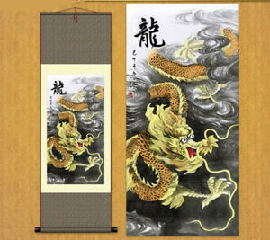 Chinese Silk Painting Scroll Painting Home Furnishing Decorative Painting